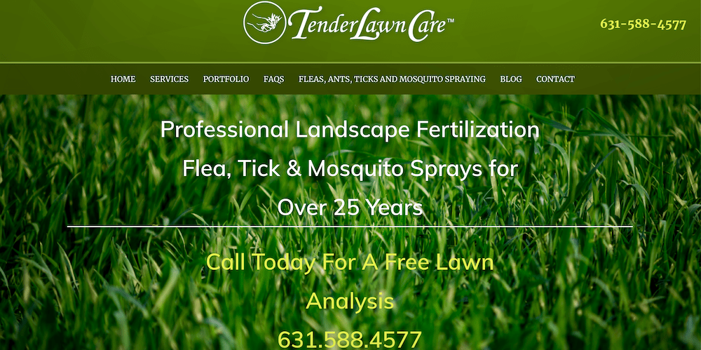 Tender Lawn Care Launches A New Website